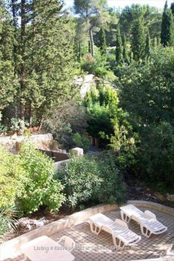 Charming, spacious 2 bedroom - 1 bath terrace apt. with parking  in lovely, quiet area, 2 miles from Cours Mirabeau Home Rental in Aix-en-Provence, Provence-Alpes-Côte d'Azur, France 3
